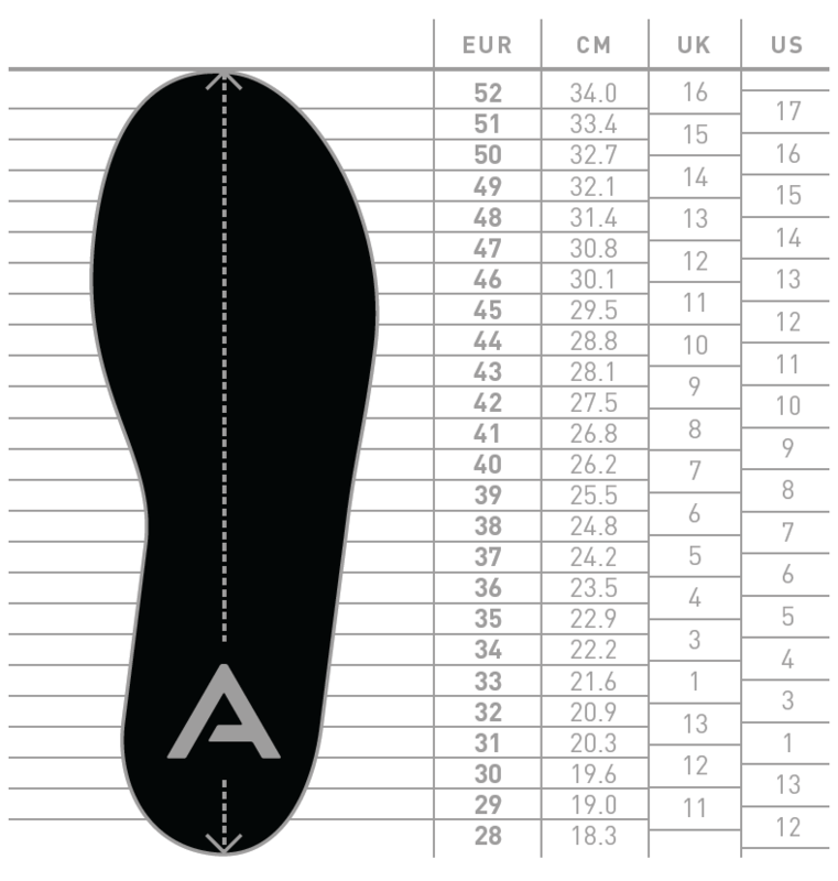 Nordic Backcountry Telemark Ski Boot Size Conversion